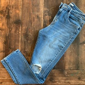Levi's 721 High Rise Ripped Skinny